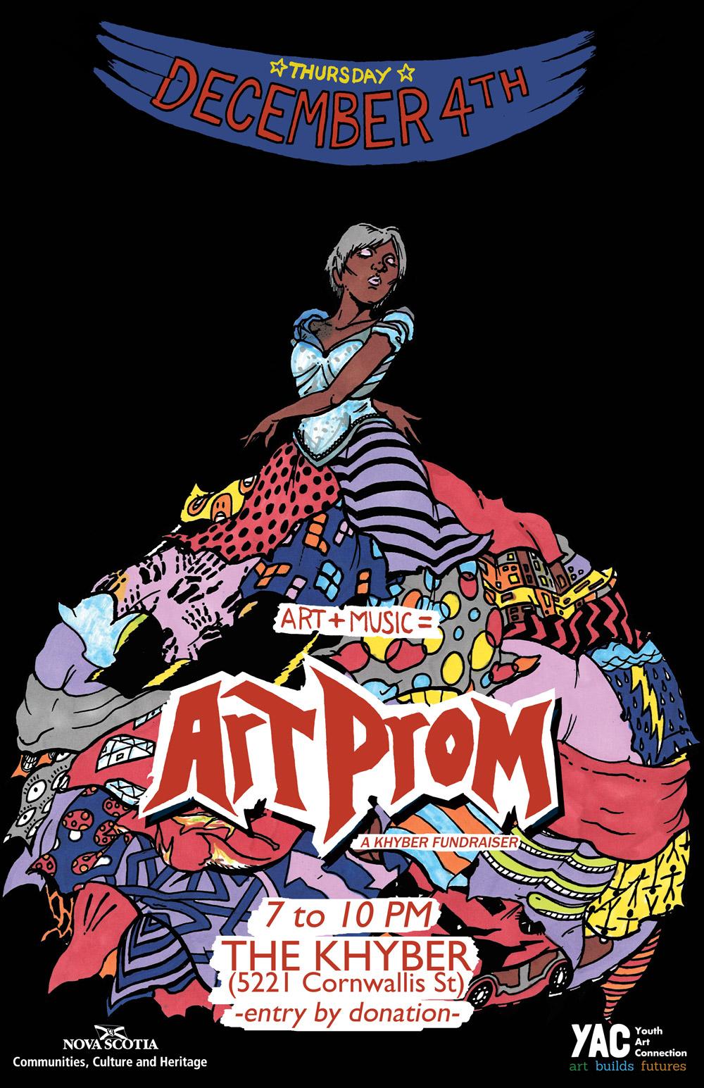 art prom poster